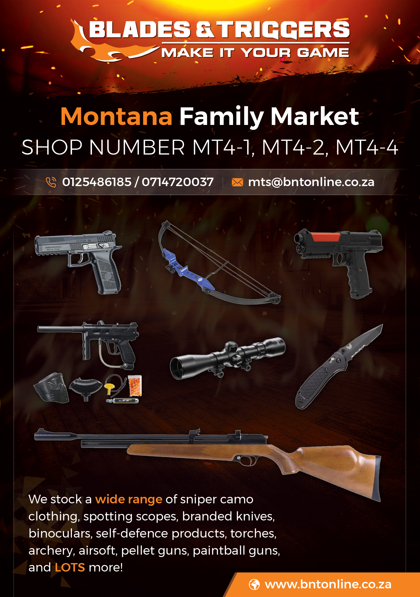Blades and Triggers | Montana Family Market