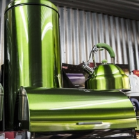 Montana Family Market_House of Appliances_matching rubbish bin, bread box, and kettle