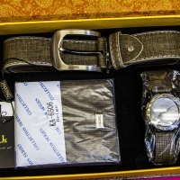 Montana Family Market_men's watch, belt, and wallet matching set