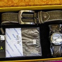 Montana Family Market_men's watch, belt, and wallet matching set