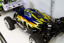 Montana Family Market_Mumir_blue and yellow flames remote controlled car