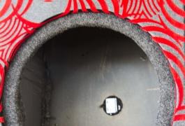 Montana Family Market_Amazing Sound_red swirl speaker box