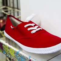 Montana Family Market_Mr. Bronx Original Footwear_red converse tennis shoes