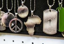 Montana Family Market_Costume Jewelry_silver Africa pendant and chain