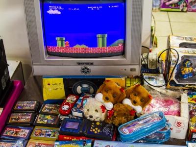 Montana Family Market_tv set with gaming setup